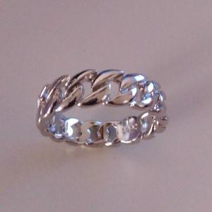 Δαχτυλίδι unisex (σχήμα αλυσίδα) ασήμι 925
