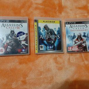 Assassin's Creed I , II , Brotherhood PS3