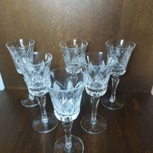 vintage κρυστάλλινα ποτήρια λικέρ