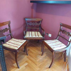Κερκυραϊκό Παραδοσιακό Σαλονάκι - 1 Πολυθρόνα, 2 καρέκλες σε πολύ καλή κατάσταση.