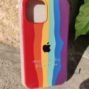 New. Original OFFICIAL Apple Θήκες σιλικόνης για IPhone 12 / 12 Pro. Rainbow