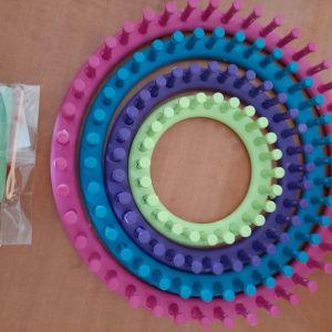 Πλαστικά στρογγυλά στεφάνια για κατασκευή loom