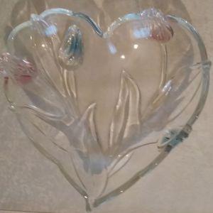 γυαλινο μπωλ σχημα καρδιά