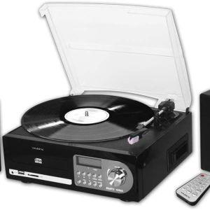 Ραδιόφωνο CD Player MAJESTIC  Audiola TT038 Vinyl Turntable USB MP3