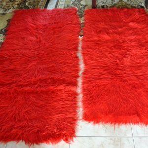 2 φλοκάτες διάδρομοι κόκκινοι