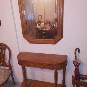 Έπιπλο εισόδου από σκαλιστό ξύλο μαζί με καθρέφτη