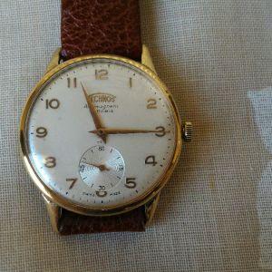 Ρολόι χειρός TECHNOS δεκαετίας'50, SWISS MADE 36mm, 21 RUBIS. Έχει γίνει σέρβις