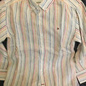Λινό πουκάμισο TOMMY HILFIGER