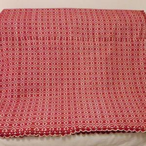 Κουβέρτα υφαντή αργαλειού ολόμαλλη κόκκινη