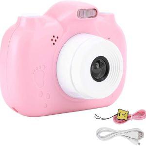 Παιδική κάμερα, FastUU A5, 3.0 ιντσών 1080P οθόνη αφής Kids Digital Camera, 3000W Pixel μπροστινή και πίσω διπλή WiFi,ροζ