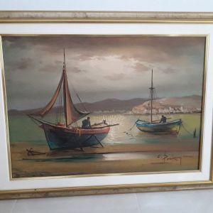Πωλείται αυθεντικός πίνακας ζωγραφικής του Χρήστου Μπρίκμαν διαστάσεων 70Χ50