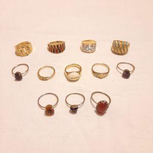 12 Vintage Δαχτυλίδια