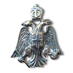 Ασημένιος 925 Δικέφαλος Αετός 3.8 × 3 εκ