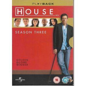 6 DVD / HOUSE  / SEASON THREE  / THE COMPLETE COLLECTION / ΧΩΡΙΣ ΥΠΟΤΙΤΛΟΥΣ