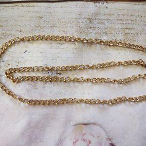 Μεταλλική αλυσίδα, έτοιμη, μήκος -119 εκ., παχος- 9 mm. χρυσό.