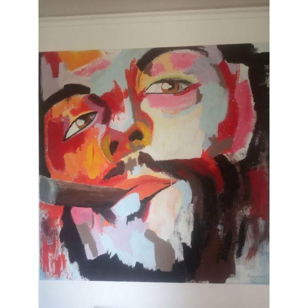 Che Guevara ladi se kamva 150x150 cm