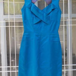 Χειροποίητο φόρεμα μπλε ελεκτρίκ