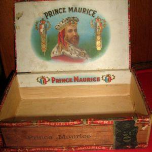 ΑΝΤΙΚΑ ΞΥΛΙΝΟ ΚΟΥΤΙ ΠΟΥΡΩΝ PRINCE MAURICE 1901 - USA