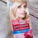 GARNIER Color Sensation Βαφή Μαλλιών Κατάξανθο Φυσικό 110 40ml.