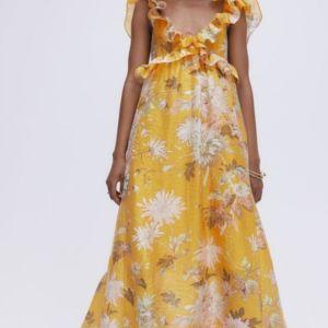 H&M φόρεμα φλοραλ small