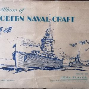 ALBUM of MODERN NAVAL CRAFT issued by JOHN PLAYER cigarettes (50 cards)