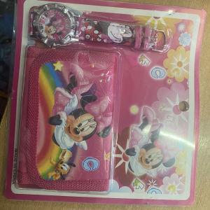 σετ πορτοφολάκι και ρολογάκι Minnie mouse