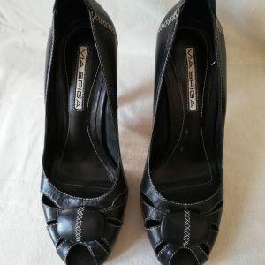 Παπούτσια γυναικεία δερμάτινα VIA SPIGA ν.38 peep toe