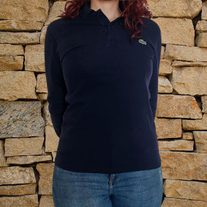 Μακρυμάνικη αντρική μπλούζα Lacoste μπλε σκούρο