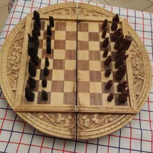 Σκάκι ξύλινο σκαλιστό
