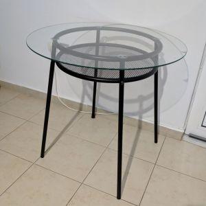 Γυάλινο στρογγυλό τραπέζι