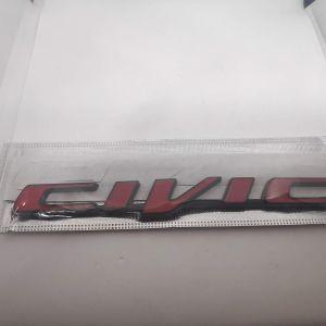 Κοκκινο Μαυρο Μεταλλικο Αυτοκολλητο Honda Civic