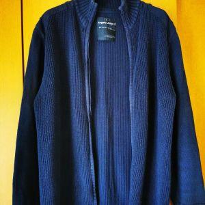 Ζακέτα αντρική χρώμα μπλε μέγεθος large