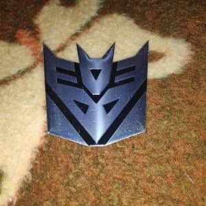 3D Μεταλλικο Αυτοκολλητο Αυτοκινητου Transformers Decepticons
