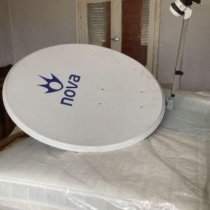 δορυφορικο πιατο nova 80 cm και αποκωδικοποιητής