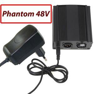 Τροφοδοτικό Ρhantom 48v υψηλής ευαισθησίας για πυκνωτικό μικρόφωνο