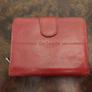 Δερμάτινο Κόκκινο πορτοφόλι  Guy Laroche