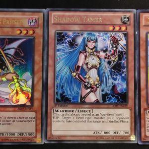 Guardian Eatos Ultra Rare + Shadow Tamer Rare + Gravekeeper's Priestess Ultra Rare