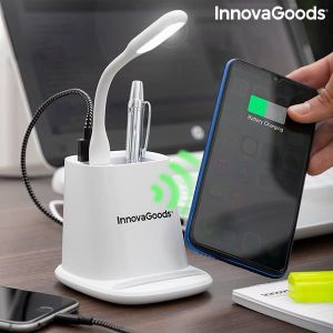Ασύρματος Φορτιστής με Βάση-Διοργανωτή και Λάμπα LED 5 σε 1 DesKing InnovaGoods
