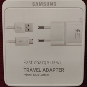 SAMSUNG FAST CHARGE(15W) TRAVEL ADAPTER (MICRO USB CABLE)