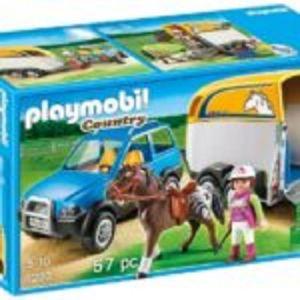 Playmobil Όχημα με τρέιλερ μεταφοράς αλόγων