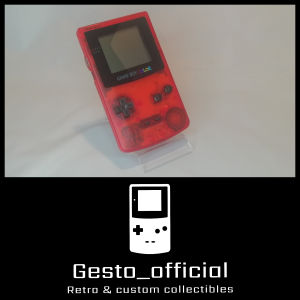 Game boy color (Clear Red) Gesto_official