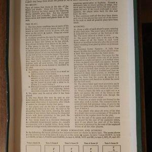 Scrabble, Αγγλική Έκδοση της δεκαετίας του 60, πολύ σπάνιο. Επιτραπέζιο