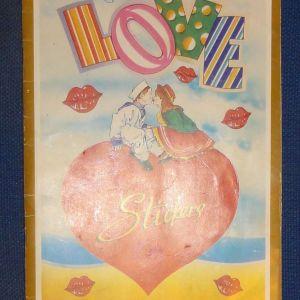 Album με αυτοκόλλητα Love stickers