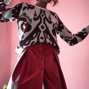 Karavan Red Vegan Leather Skirt never worn / Φούστα κόκκινη δερμάτινη μέχρι το γονατο. ΚΑΙΝΟΥΡΙΑ