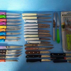 μαχαιρια διαφορα ,συνολο=36 τεμ,ολα μαζι=10€