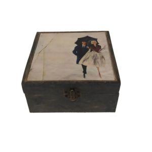 Ξύλινο κουτί αποθήκευσης vintage ΖΕΥΓΑΡΙ