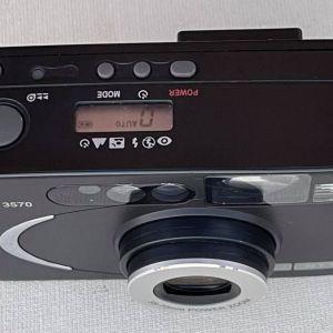 Φωτογραφική Μηχανή NYTECH με φιλμ και ηλεκτρονική λειτουργία. Μεγάλο ζουμ. Σε άριστη κατάσταση και λειτουργία.