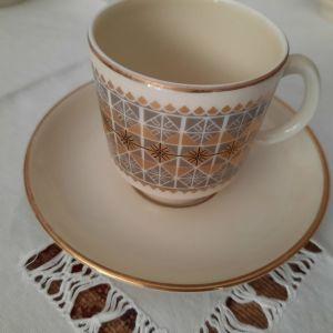 Σερβίτσιο ελληνικού καφέ vintage