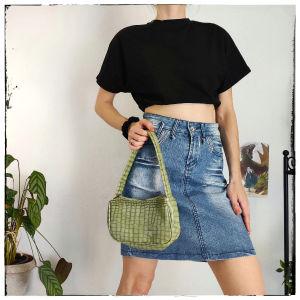 [ ΦΟΥΣΤΑ ] y2k Jean skirt