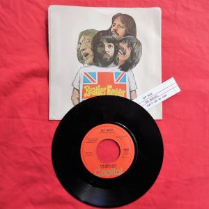 """THE BEATLES """"GET BACK / DON'T LET ME DOWN"""" 45 στροφών από την CAPITOL RECORDS."""